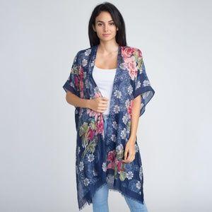 Accessories - Floral Kimono